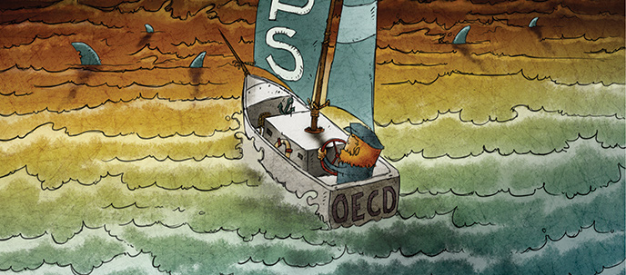 OECD Beps Ship sailing in a sea